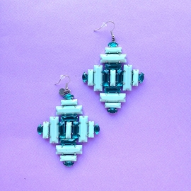 Nali blue diamond earrings
