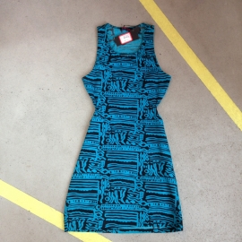 Motel Rocks Tribal Print Blue dress