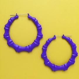 Bamboo Earrings Purple XL