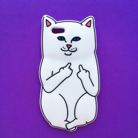 White Nermal Cat Phone Case