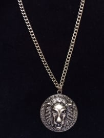 Lion Chain Long in Bronze