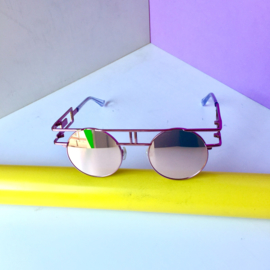 Pink Metallic 90s Sunglasses