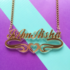 Custom-Made Acrylic Name Necklace