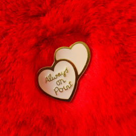 Always On Point Hearts Pin