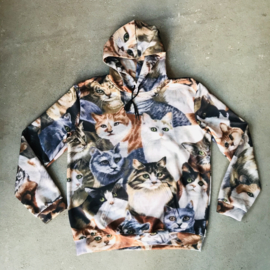 Cat Collage Hooded Sweater