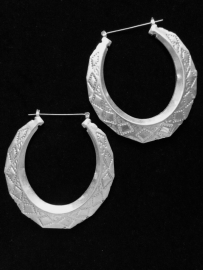Silver Hoop Earrings XL
