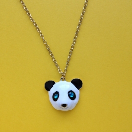 Panda Pendant Long Necklace