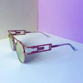 Pink Metallic 90s Sunglasses