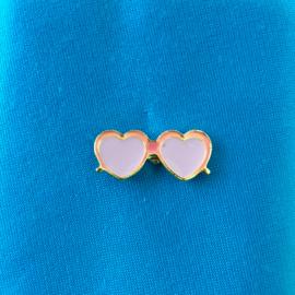 Pink Sunglasses Pin