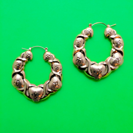 Gold Bubble Bamboo Earrings