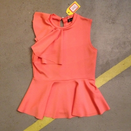 Peplum Peach Top