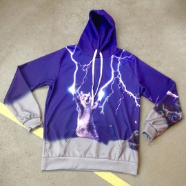 Lightning Cat Hooded Sweater