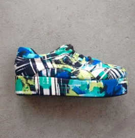 Multi Coloured Platform Sneakers Size 40