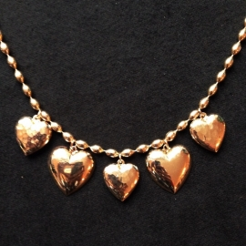 Hearts Necklace in Gold