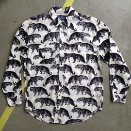 Leopard Longsleeve Shirt in Black and White