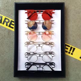 Square frame 90s sunglasses