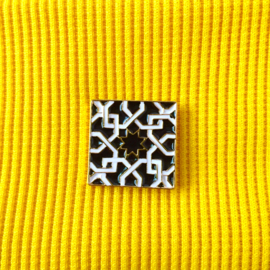 Square Tile Black & White Pin