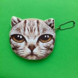 Light Brown Cat Wallet