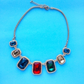 Colored Diamonds Necklace