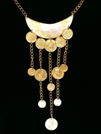 Coins Bohemian Gold Necklace
