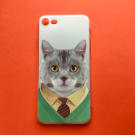 Cat with tie Phonecase
