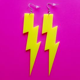 Yellow Thunder Acrylic Earrings