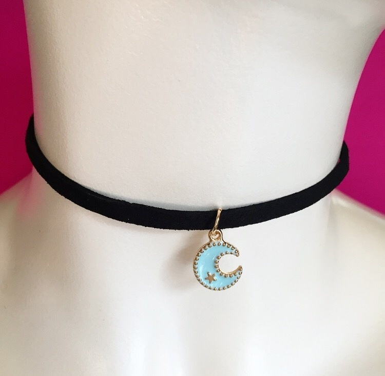 Baby Blue Moon Choker Black