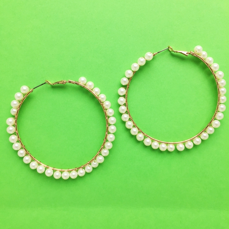 Pearl & Gold Hoops
