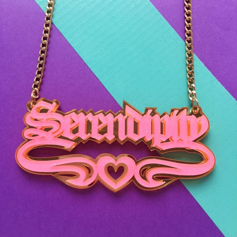 Custom-Made Acrylic Name Necklace