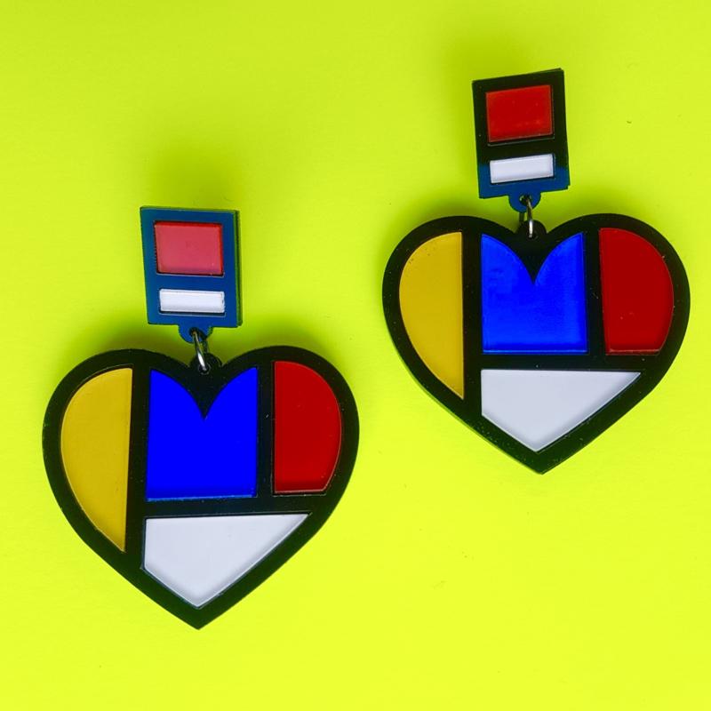 Mondriaan Acrylic Earrings
