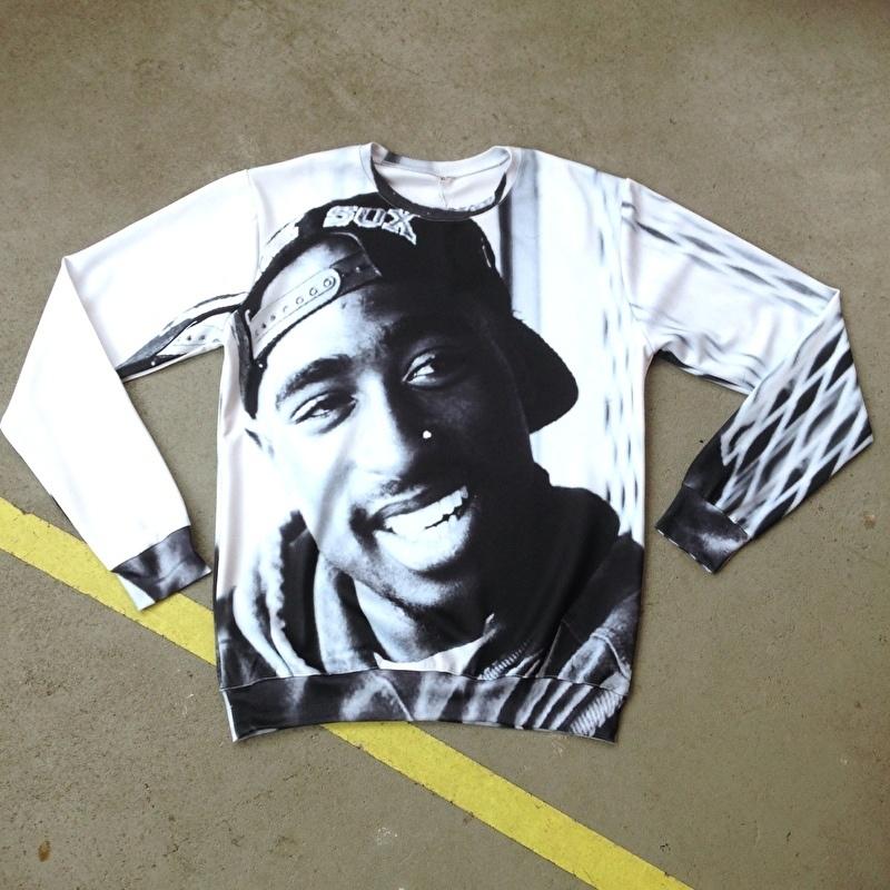 Tupac Black & White Sweater