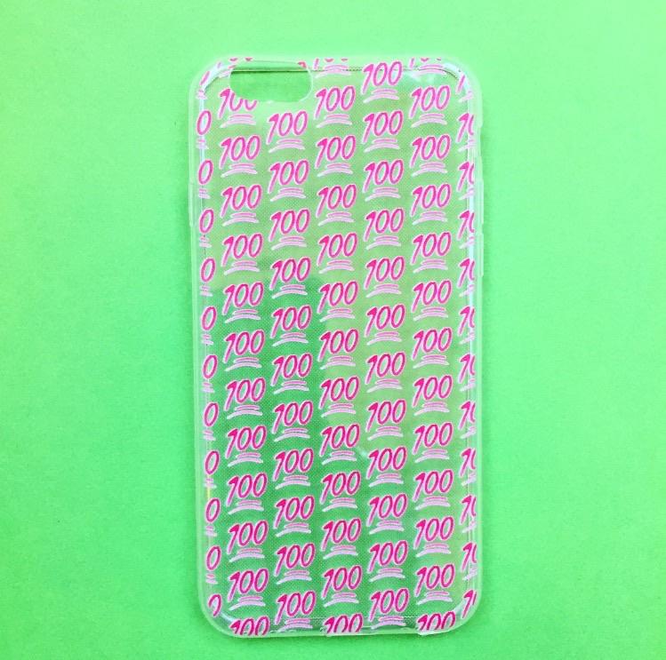 100 Hundred Emoji Phone Case