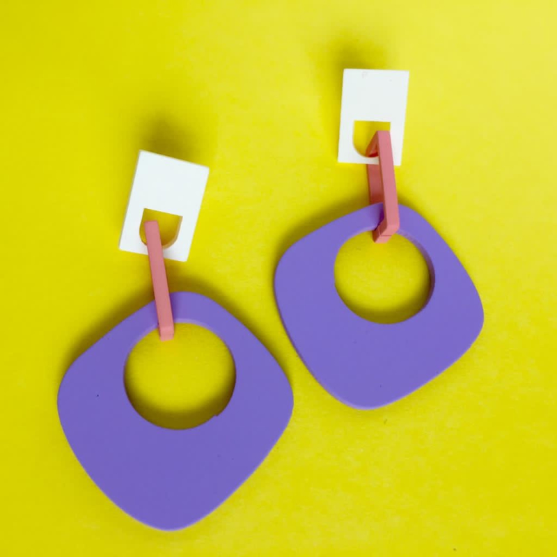 80s pastel earrings