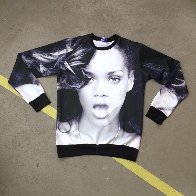 Rihanna Smoking Photoprint Sweater