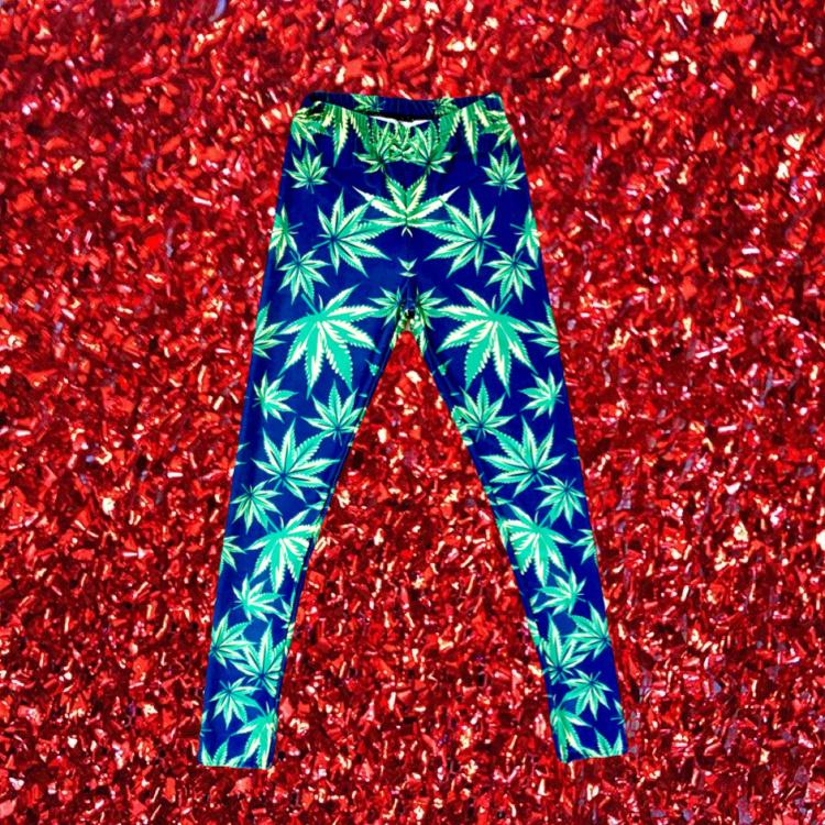 Weed Print Legging