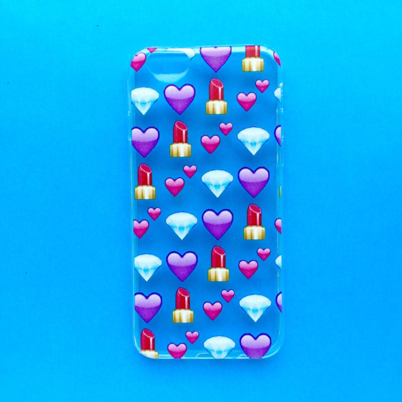 Lipstick Diamonds Emoji Phonecase