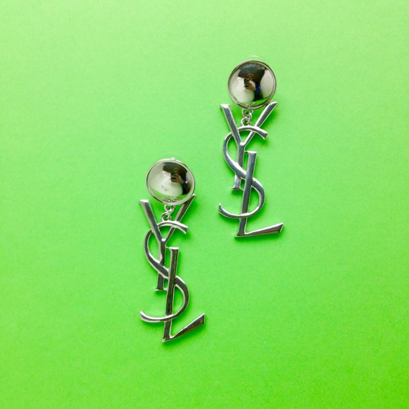 Silver 3 Letter Earrings