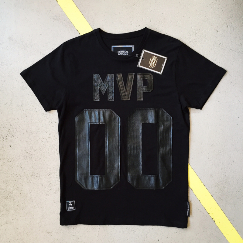Black MVP T-Shirt by Criminal Damage