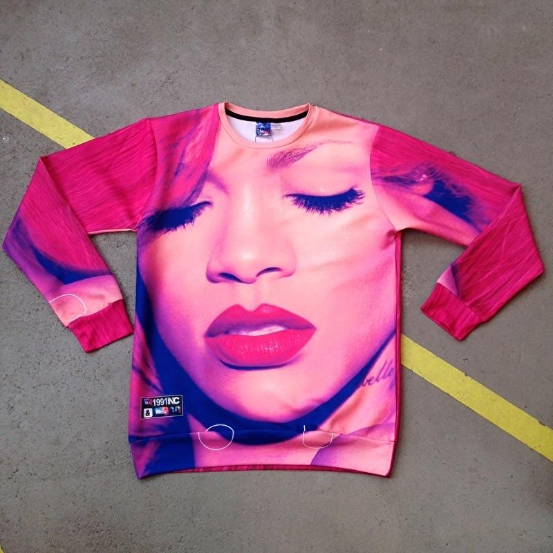 Rihanna Red Hair Sweater