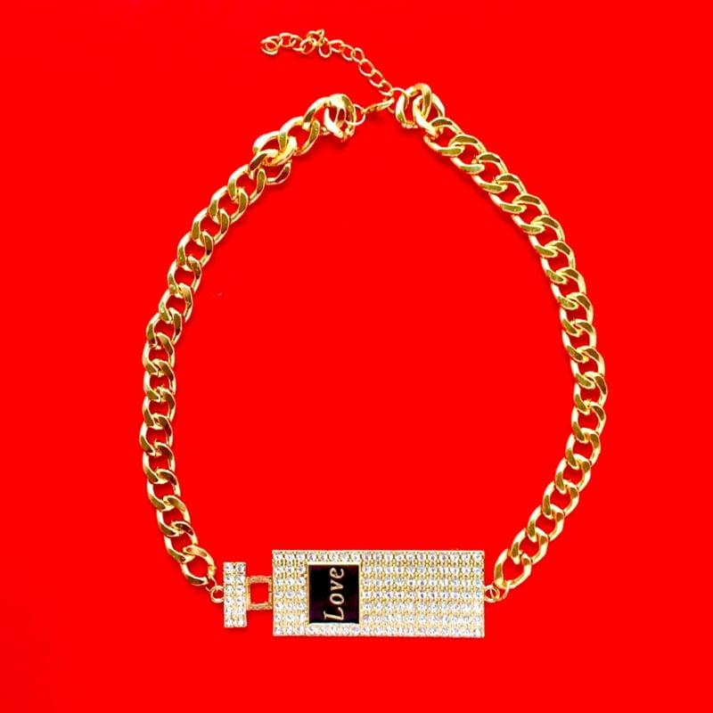 Gold Perfume Bottle Necklace