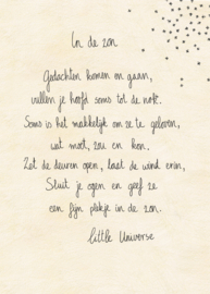 Little Universe postcard 'In de zon'