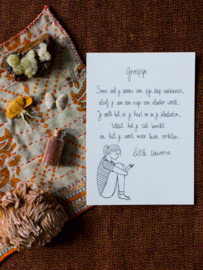 Little Universe postcard 'Groeipijn'