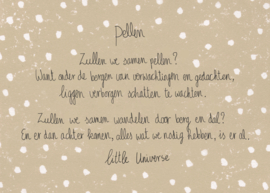 Little Universe postcard 'Pellen'