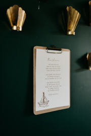 Klembord messing & print naar keuze