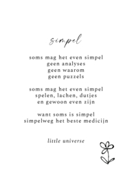 Kaart 'Simpel'