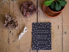 Little Universe postcard 'Donker & Licht'