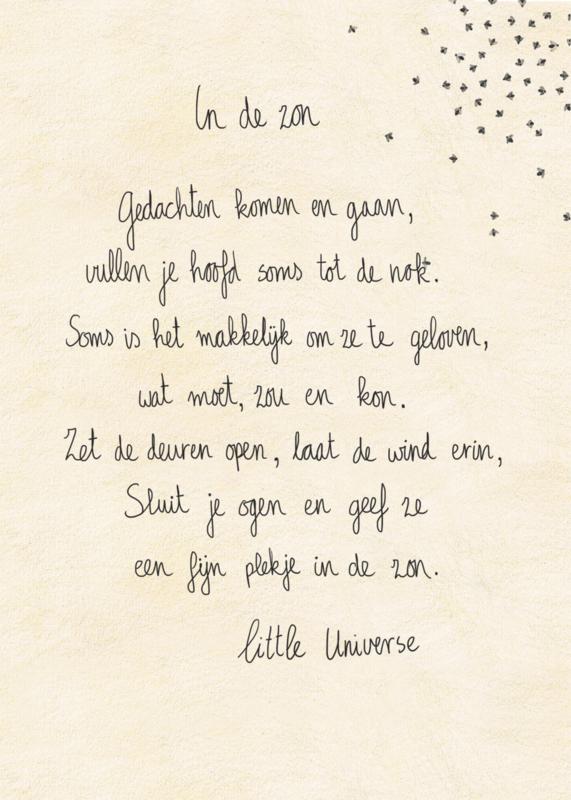 Little Universe postcard 'In de zon'