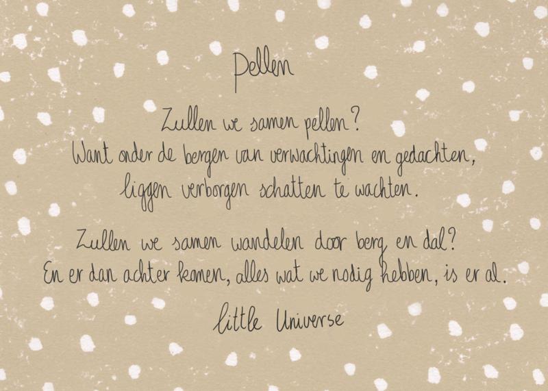 Little Universe postcard 'Pellen'