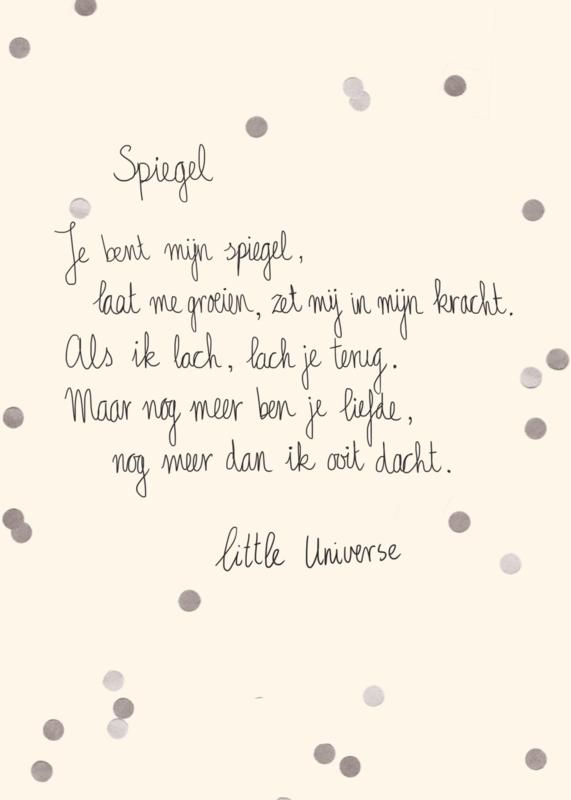 Little Universe postcard 'Spiegel'
