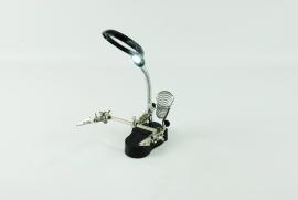 Derdehand/soldeerbouthouder, loep met Led verlichting
